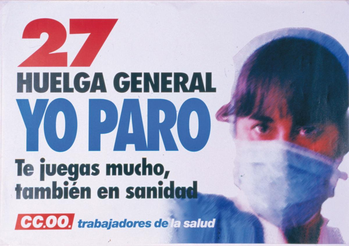 Cartel 27 huelga general 1